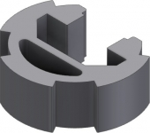 Profil aluminiu D28 L U10
